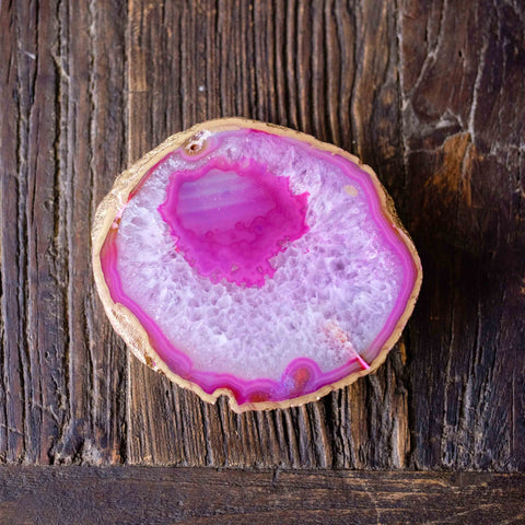 Gorgeous pink agate coaster trivet by Mapleton Drive