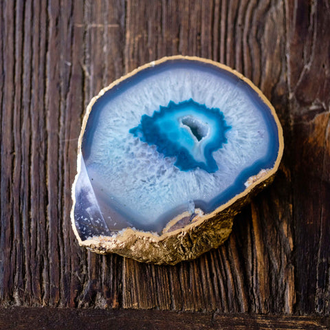 Thick agate slab coaster by Mapleton Drive
