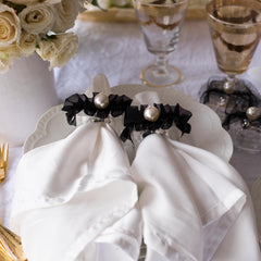 Pearl napkin rings by Mapleton Drive