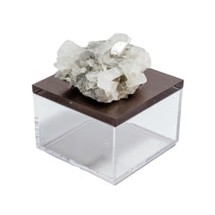 Gemstone box with calcite crystal by Mapleton Drive