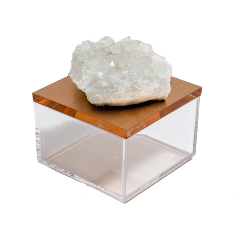 quartz cluster gem box by Mapleton Drive
