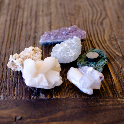 Crystal Gemstone Magnets by Mapleton Drive