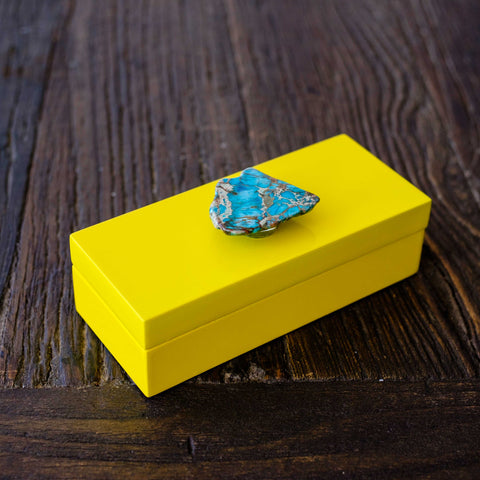 turquoise jasper box by Mapleton Drive