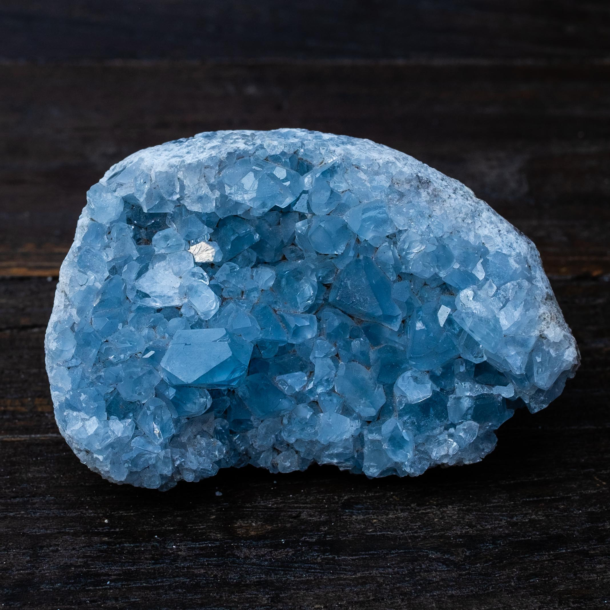 celestite crystal by rock adopt Mapleton Drive