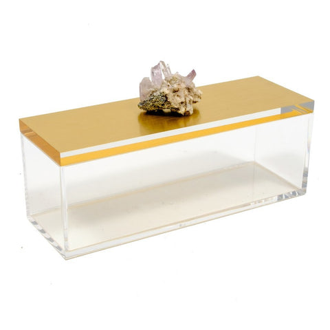 Acrylic Gold Box w/ Vera Cruz Crystal