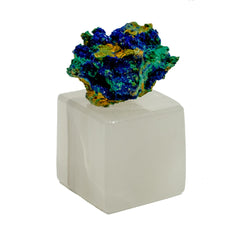 Azurite Crystal w/ Onyx Stand Paper Weight
