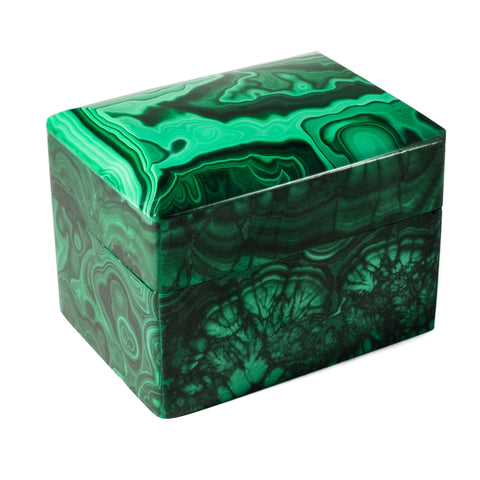 Small Malachite Round Top Box by Mapleton Drive