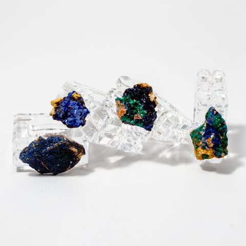 Azurite and Malachite Napkin Rings (set of 4)