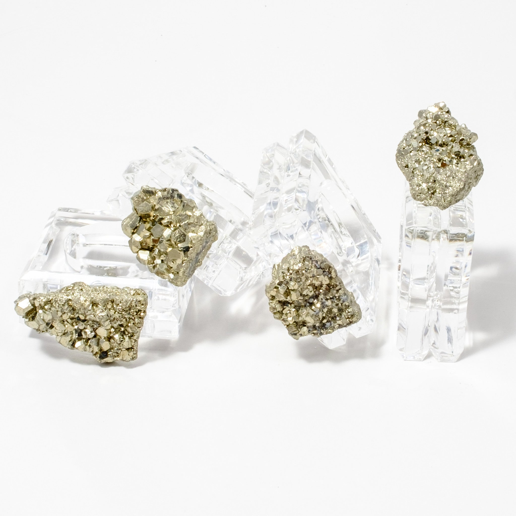 (set of 4) Pyrite Napkin Rings by Mapleton Drive