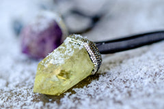Lemon Yellow Quartz Ornament by Mapleton Drive