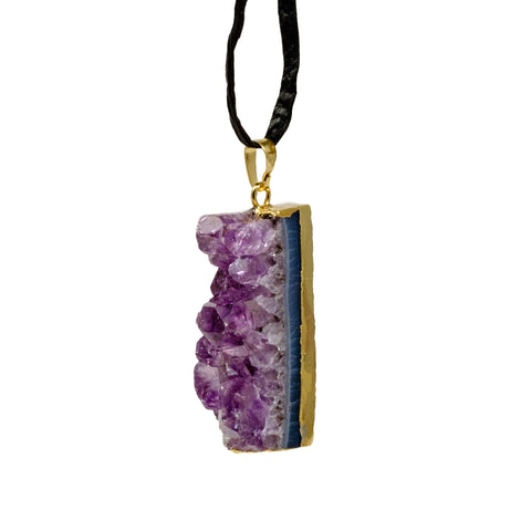 amethyst slice ornament for christmas.  Amethyst Slice christmas ornaments are a perfect gift.