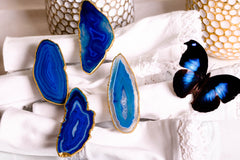 Blue Agate Napkin Rings by Mapleton Drive