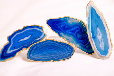 blue agate napkin rings