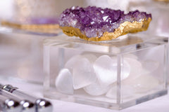 Acrylic Jewelry Box w/ Amethyst