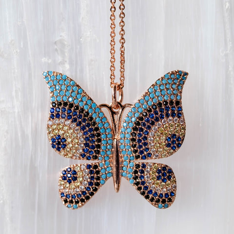 butterfly necklace for coachella