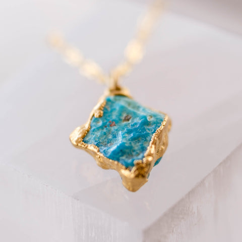 Tiny Turquoise Pendant Necklace