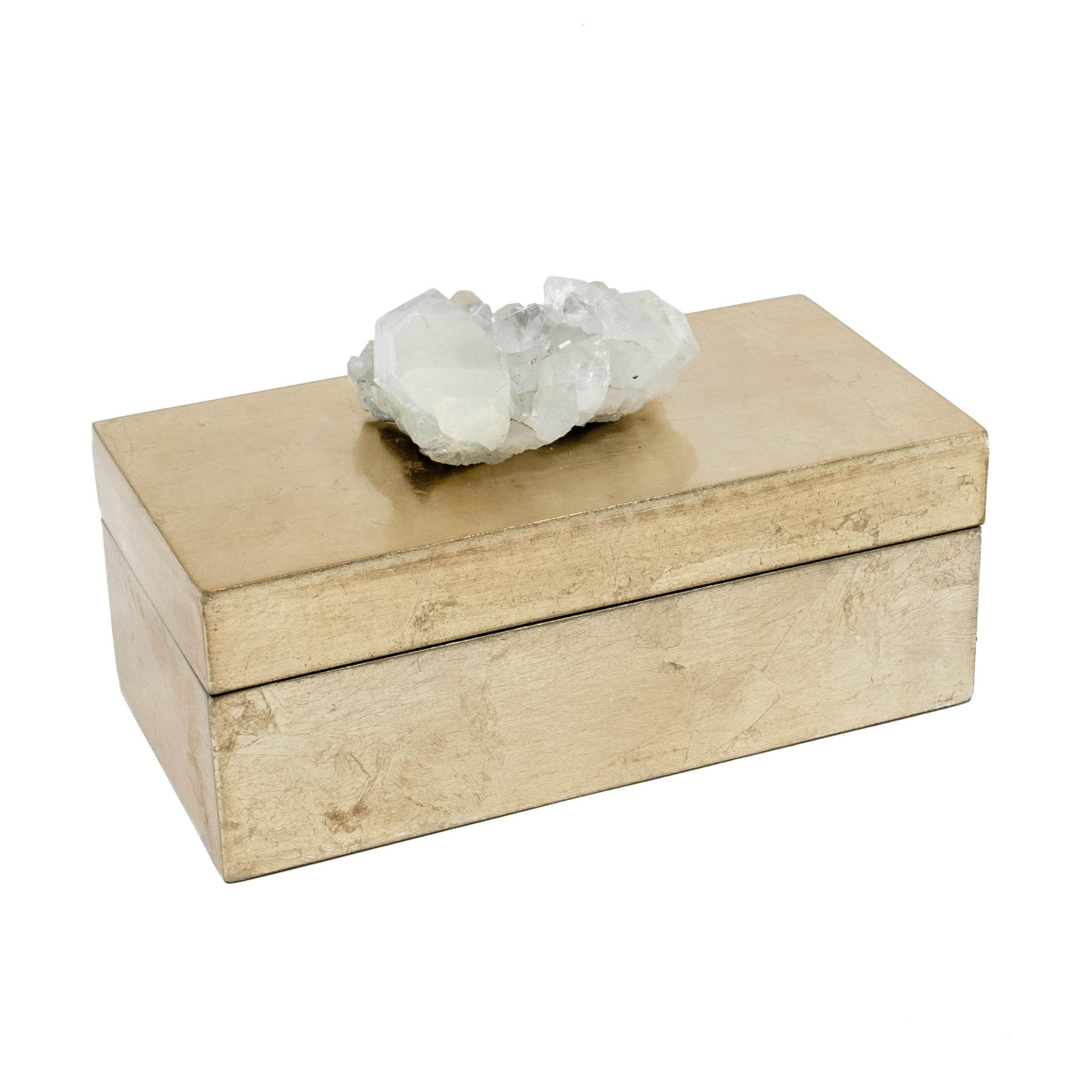 Brushed Gold Box with Apophyllite Crystal