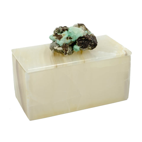 Onyx Box with green Apophyllite for your home decor.