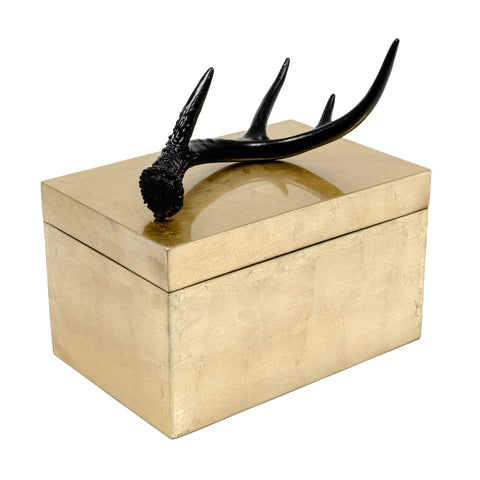 Gold Brushed Antler box for your home.