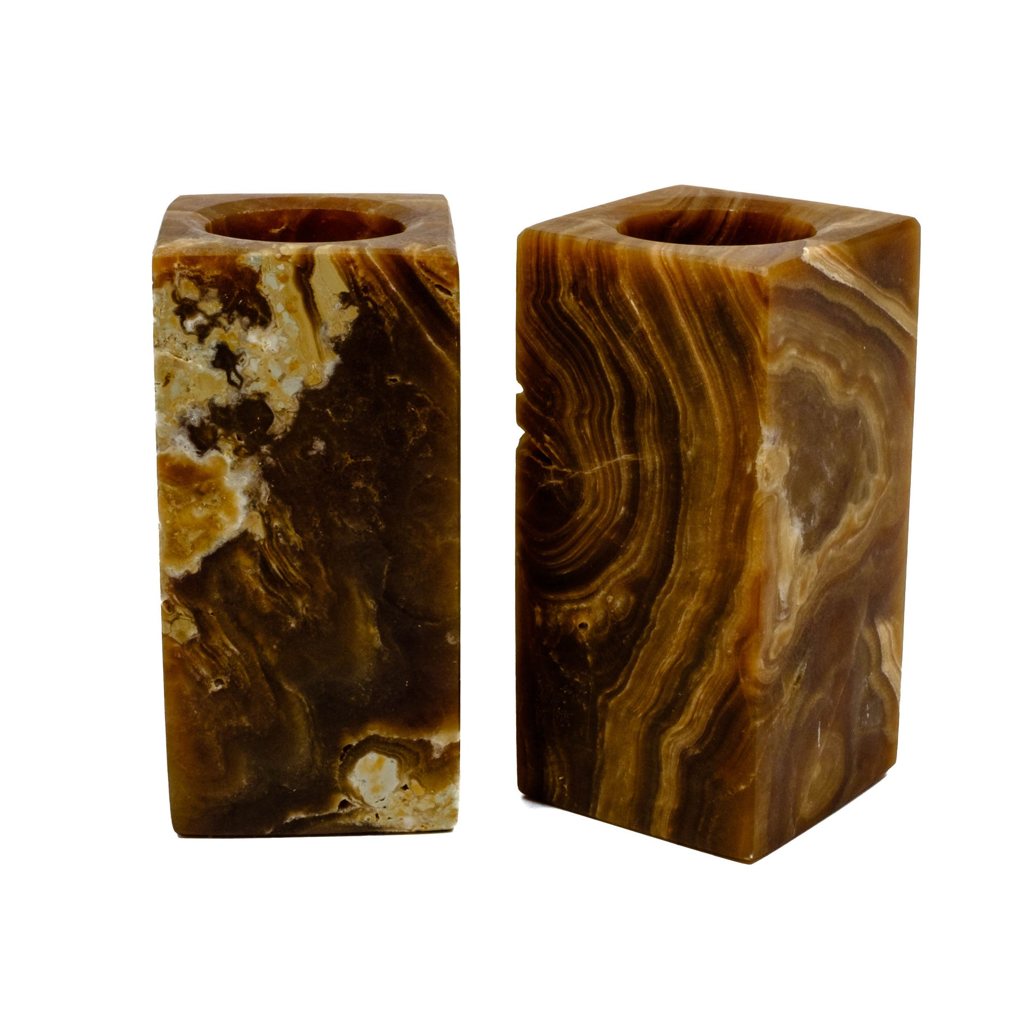 chocolate onyx vase or candle holder for your living room.