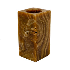 chocolate onyx vase or candle holder for your man cave.