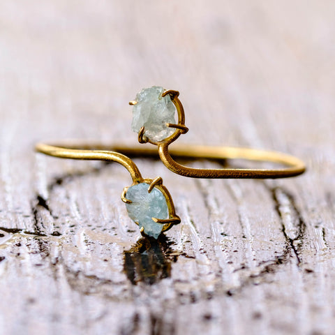 Aquamarine Prong Cuff