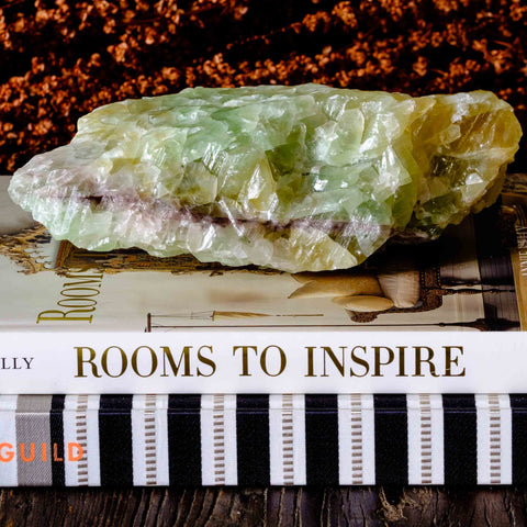 Add a bit of Nature to your home decor with this green calcite Object by Mapleton Drive
