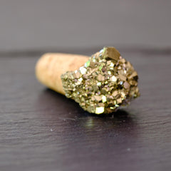Pyrite cork bottle stopper by Mapleton Drive