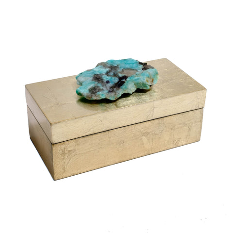 jewel tone gift box with a gemmy amazonite by Mapleton Drive