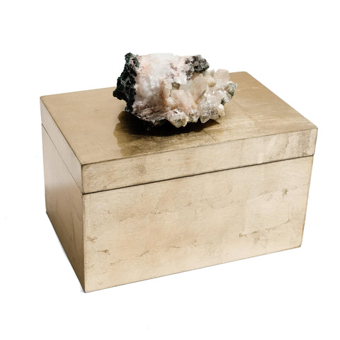 Extra Large Gold box with Zeolite Crystal by Mapleton Drive