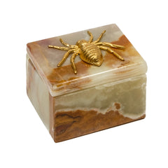 jewelry box in Onyx and spider by Mapleton Drive.  unique gift boxes