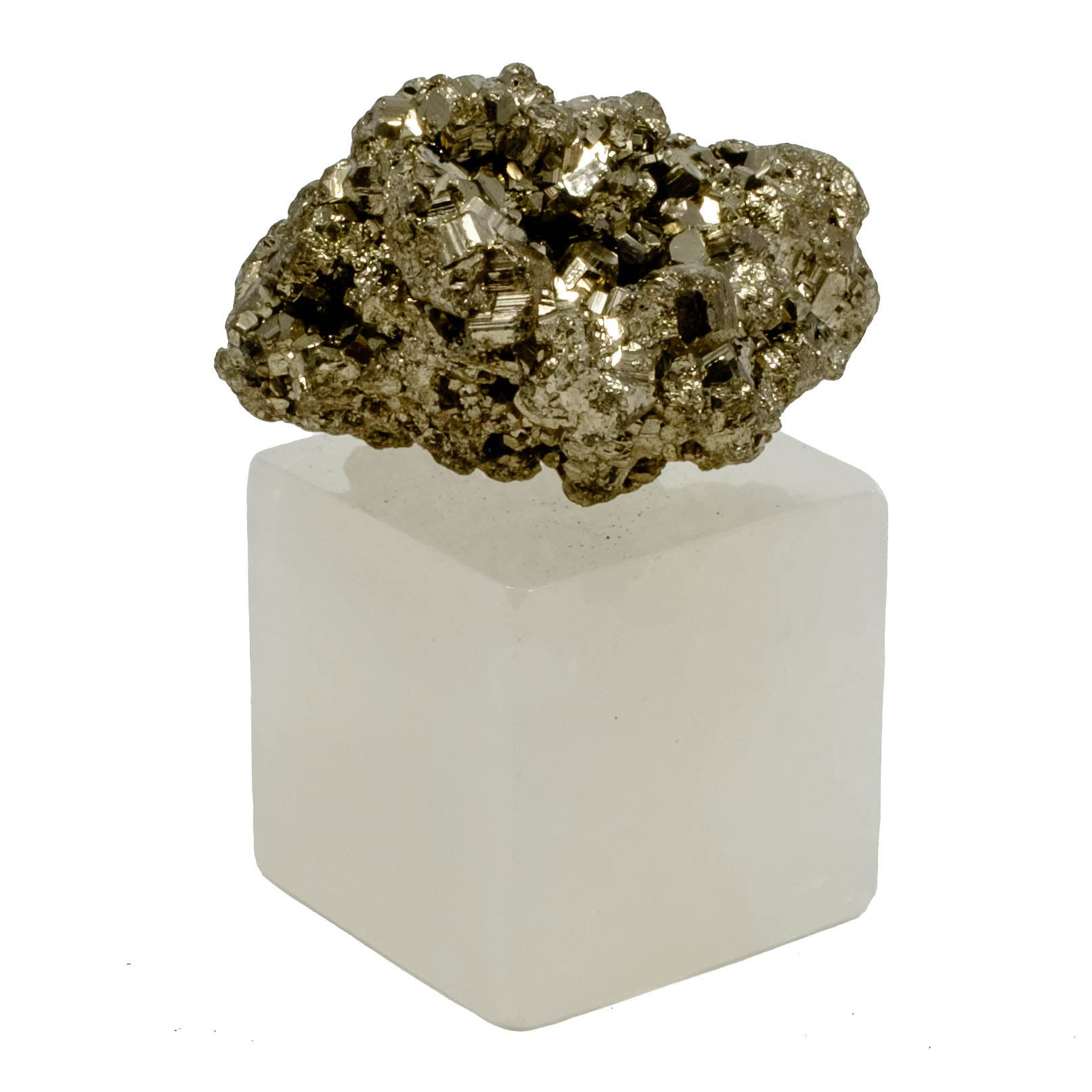 Pyrite w/ Onyx Stand Paper Weight