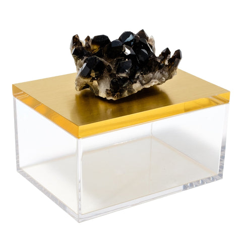 Acrylic Gold Box w/ Smoky Quartz