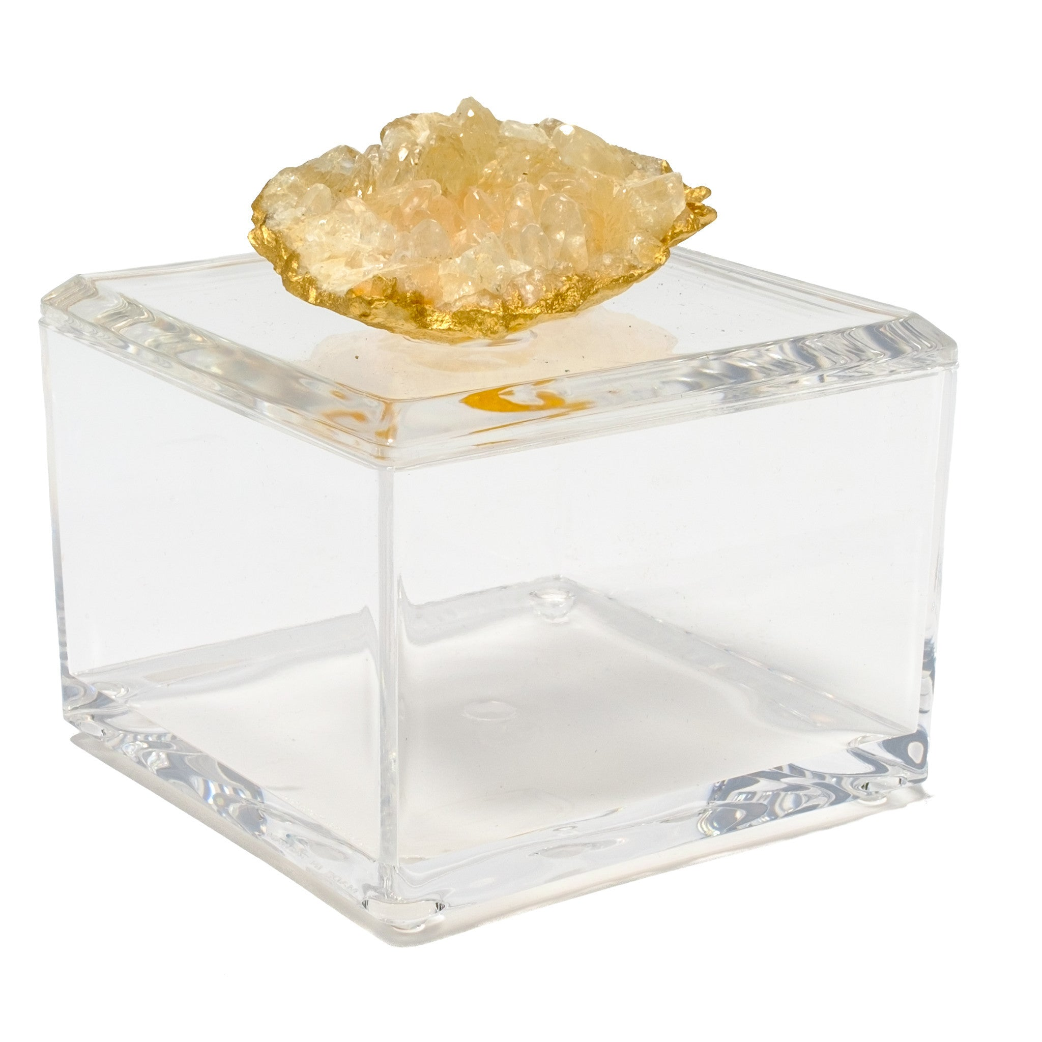 Small Acrylic Box w/ Calcite Crystals