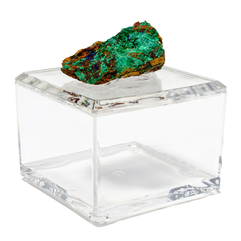 Small Acrylic Box w/ Azurite and Malacite