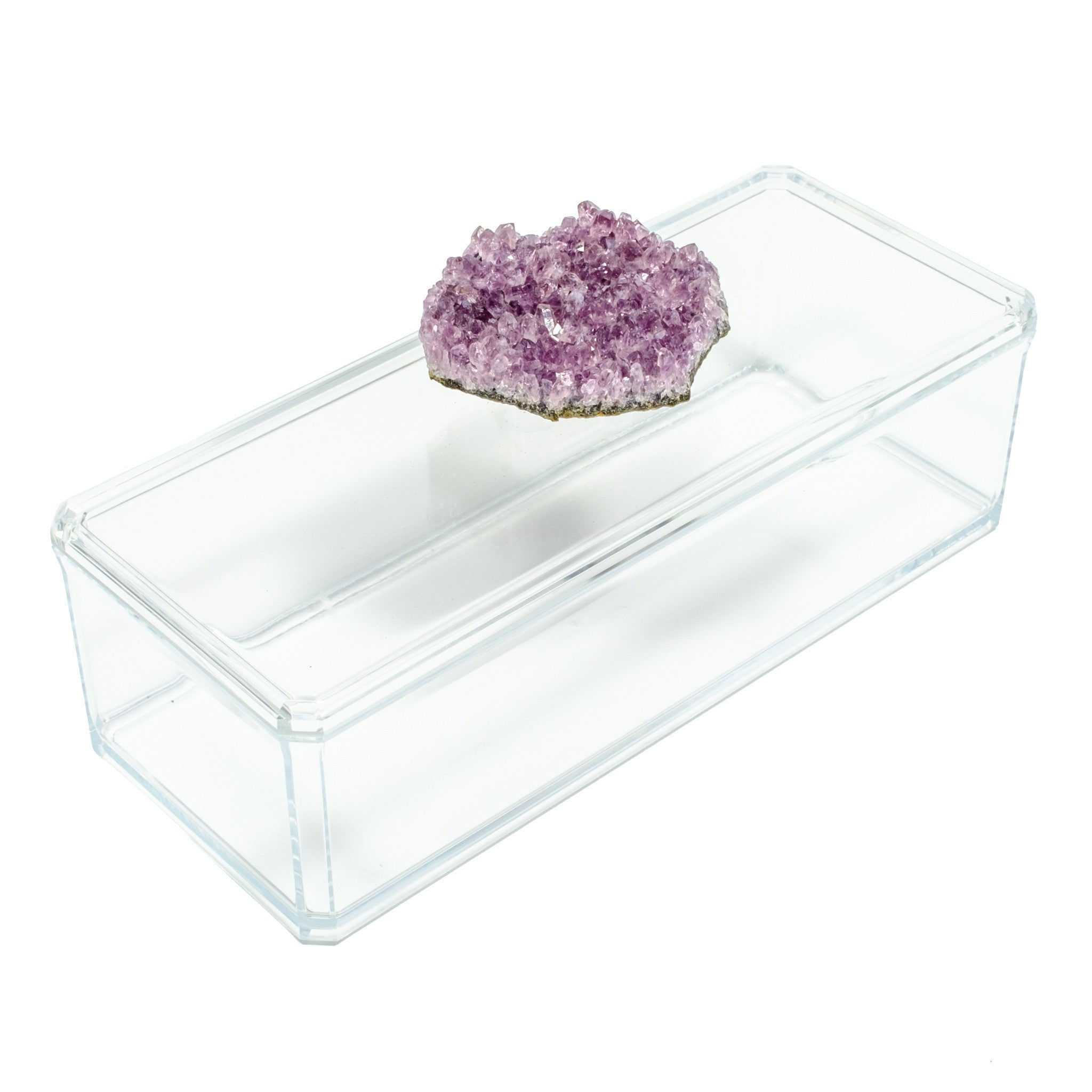 Remote Acrylic Box with Amethyst