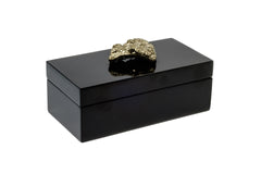 Medium Black Lacquer Box with Pocado