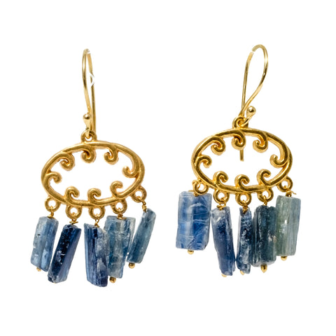 Blue Kyanite Dangle Earrings