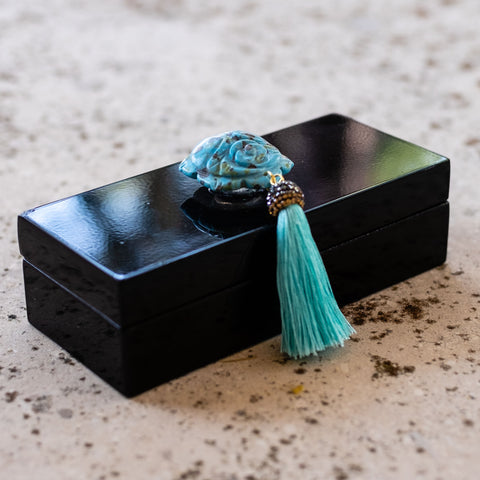 black lacquer boxes by Mapleton Drive #madebyMapleton