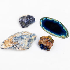 Earthbound gifts in Bluetranquility by Mapleton Drive #kyanite #azurite #agate #sodalite
