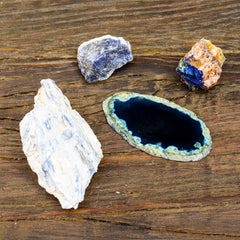 Earthbound gifts in Blues by Mapleton Drive #kyanite #azurite #agate #sodalite