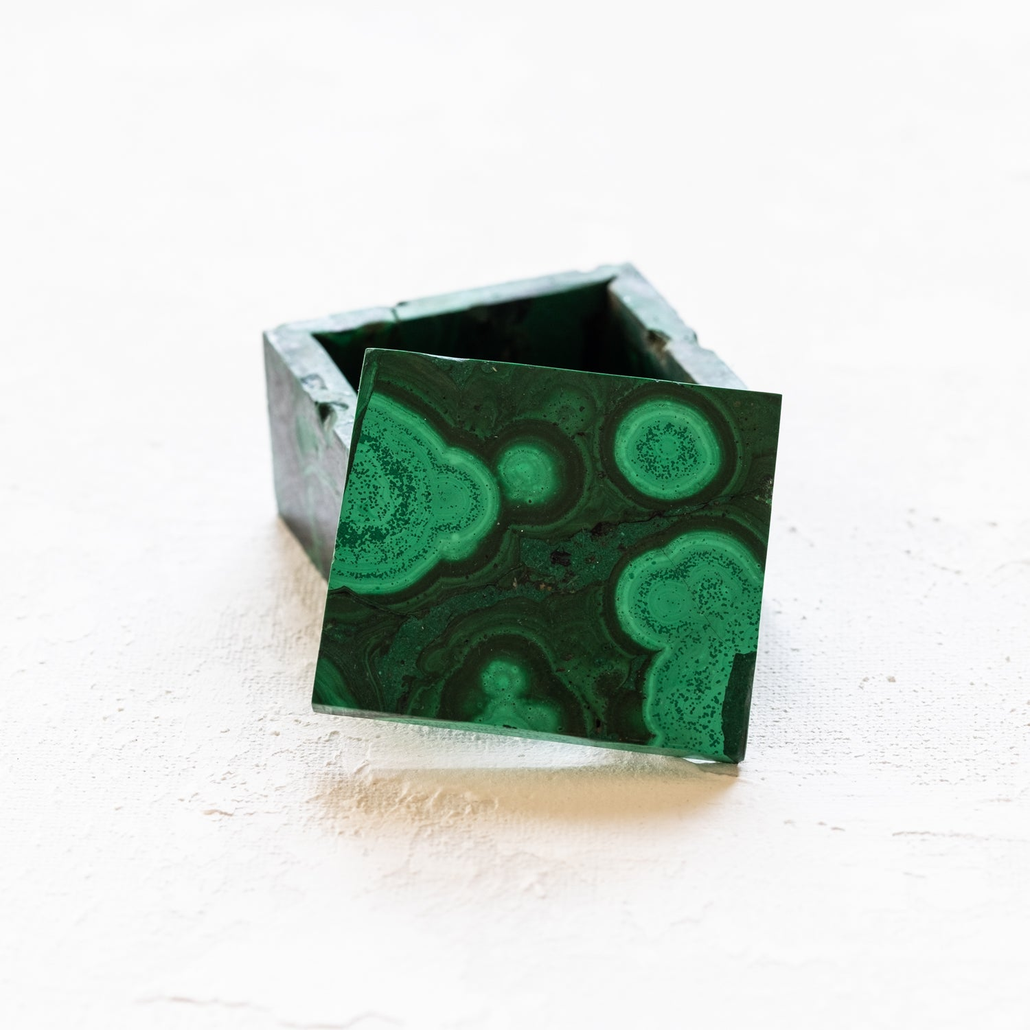Small Malachite Ring Box