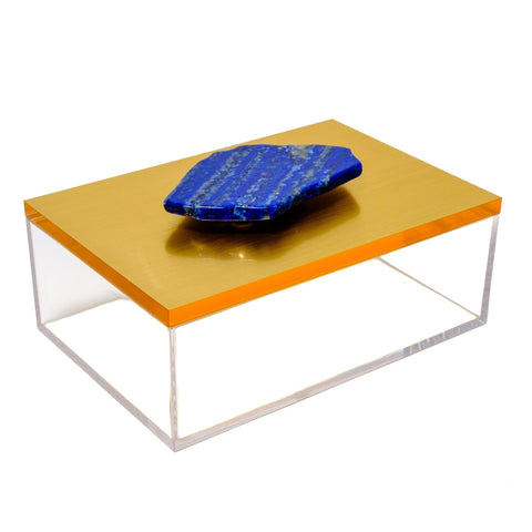 Acrylic Gold Box With Lapis