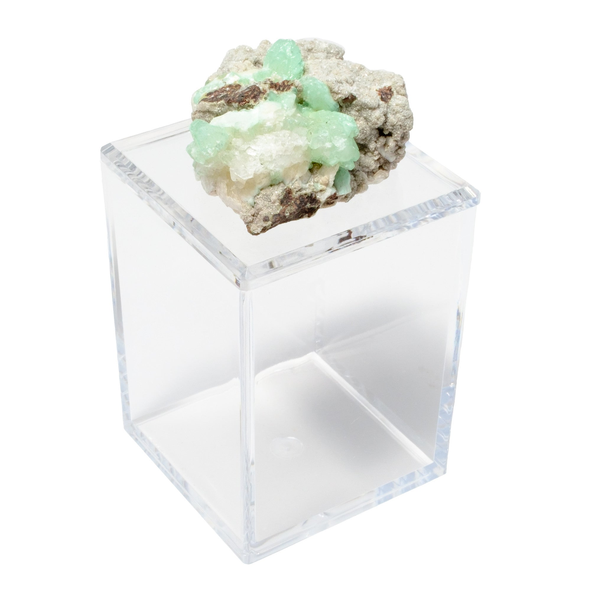 Tall Acrylic Box w/ Green Apophyllite