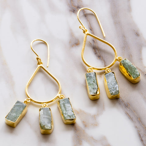 Kyanite Tear Drop Earrings