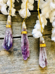 Amethyst Point Wand Ornament
