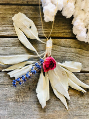 Sage Wand Ornaments with Crystals