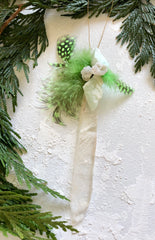 Selenite Point Wand Ornament