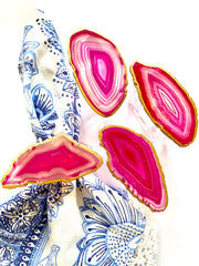 Pink Agate Napkin Rings (set of 4)
