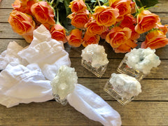 Napkin Rings w/ Quartz Crystal (set of 4)